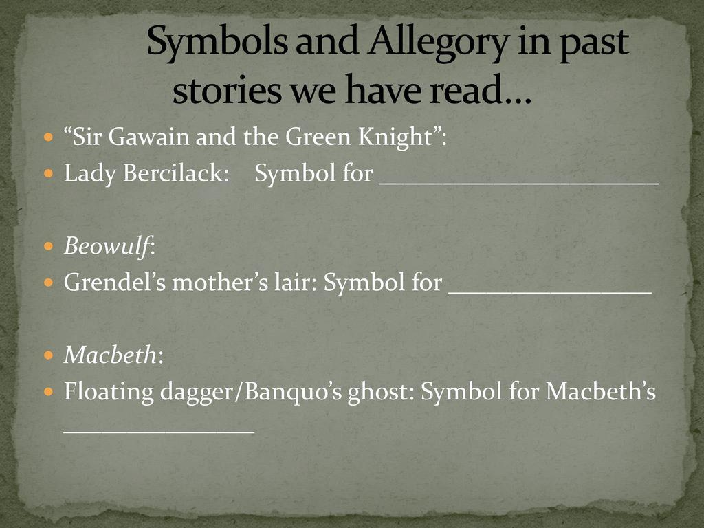 Symbolism and allegory ppt download 8 symbols buycottarizona Choice Image
