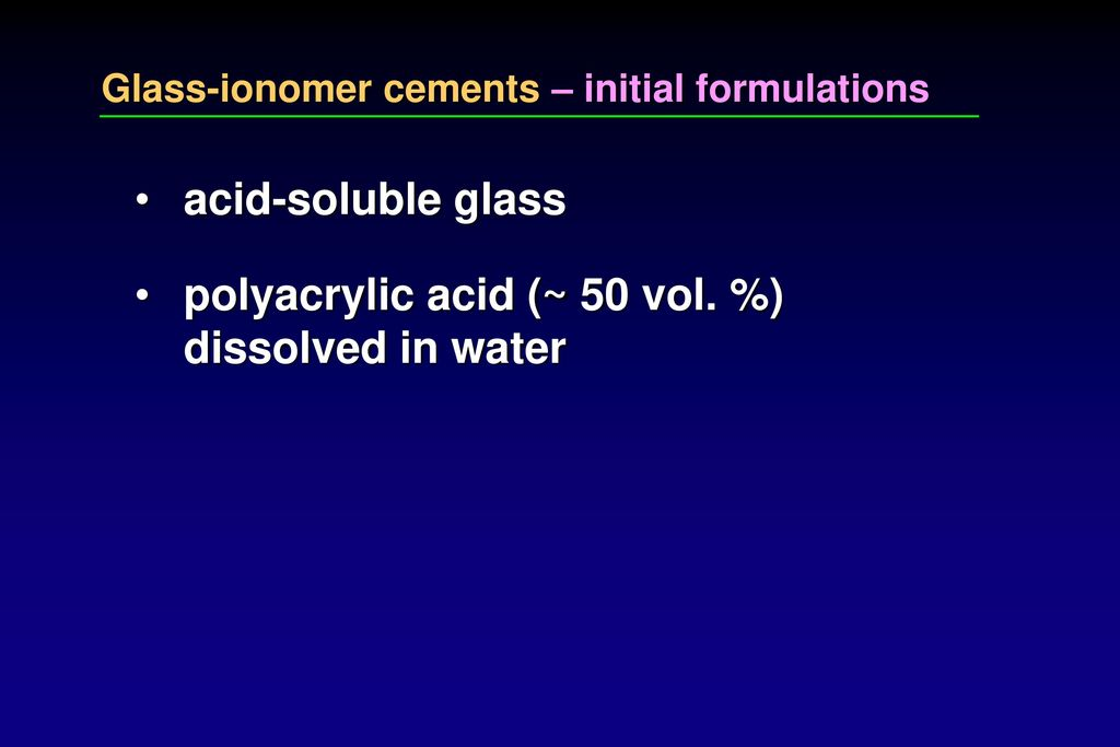 development of glass ionomer cement 1980 2000 The latest advancement in glass ionomers is the nano-ionomer  mclean jw, wilson ad the clinical development of the glass-ionomer cement  pediatr dent 2000 .