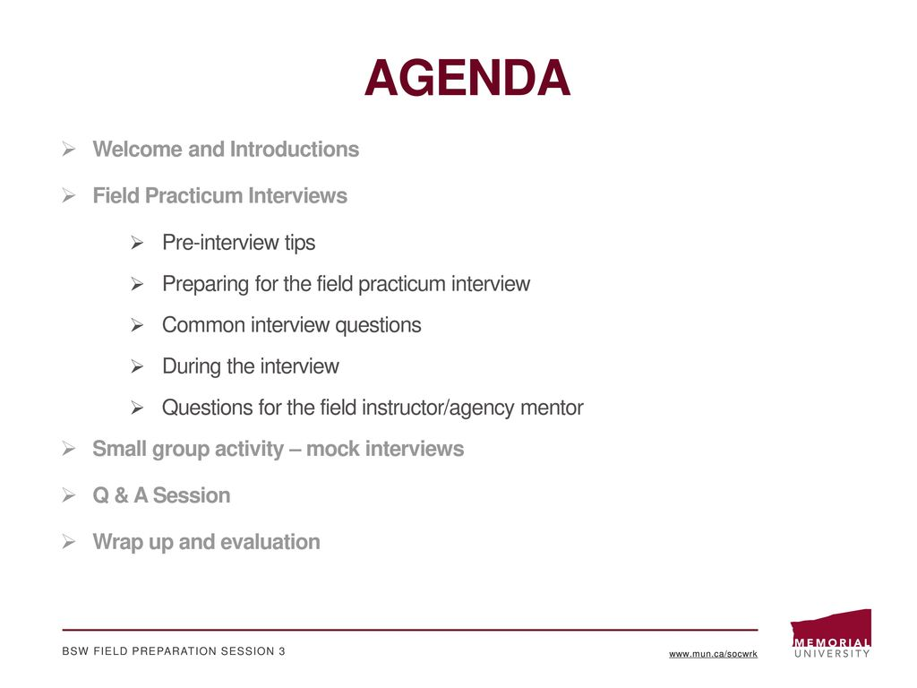 Field Interview Questions Akbagreenwco AGENDA Welcome And Introductions Practicum Interviews Wells Fargo Group