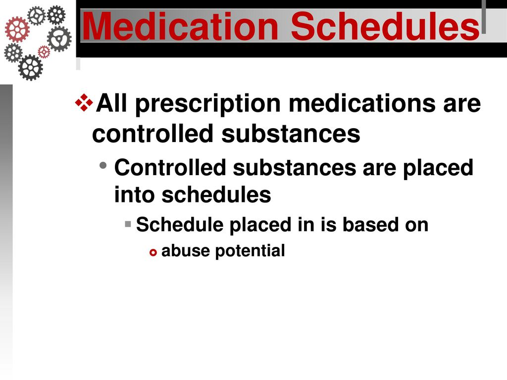 Medication Schedules Responsibilities In Action Ppt Download