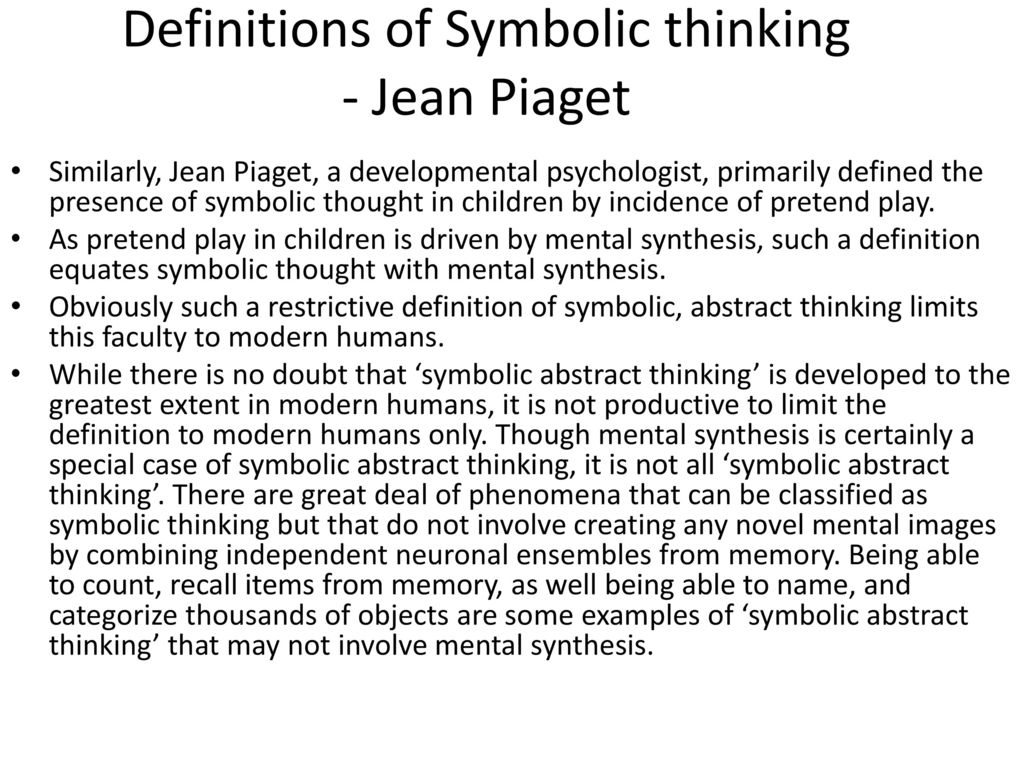 The neurobiology of consciousness and evolution of language ppt definitions of symbolic thinking jean piaget biocorpaavc Images