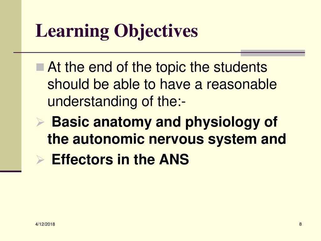 Fantastisch Anatomy And Physiology Learning Objectives Galerie ...