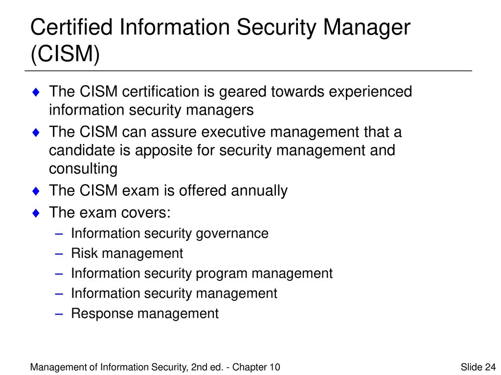 Management of information security second edition ppt download 24 certified information security manager cism 1betcityfo Choice Image
