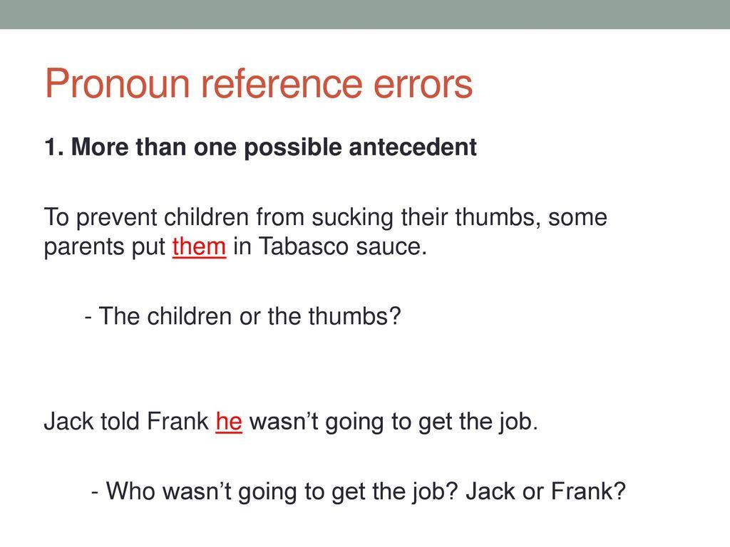 worksheet Unclear Pronoun Reference Worksheet academic english iii november 5 ppt download 12 pronoun reference errors