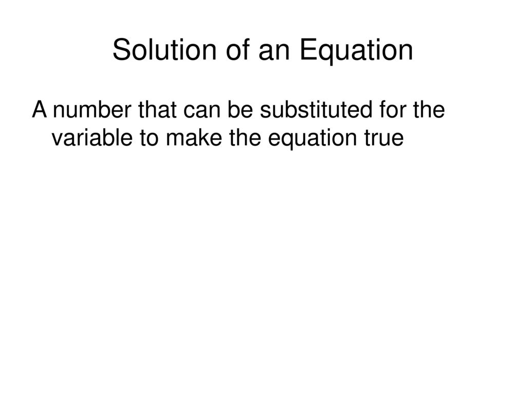 Solution of an Equation