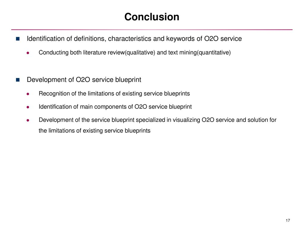 Development of online to offline service blueprint ppt download conclusion identification of definitions characteristics and keywords of o2o service malvernweather Choice Image
