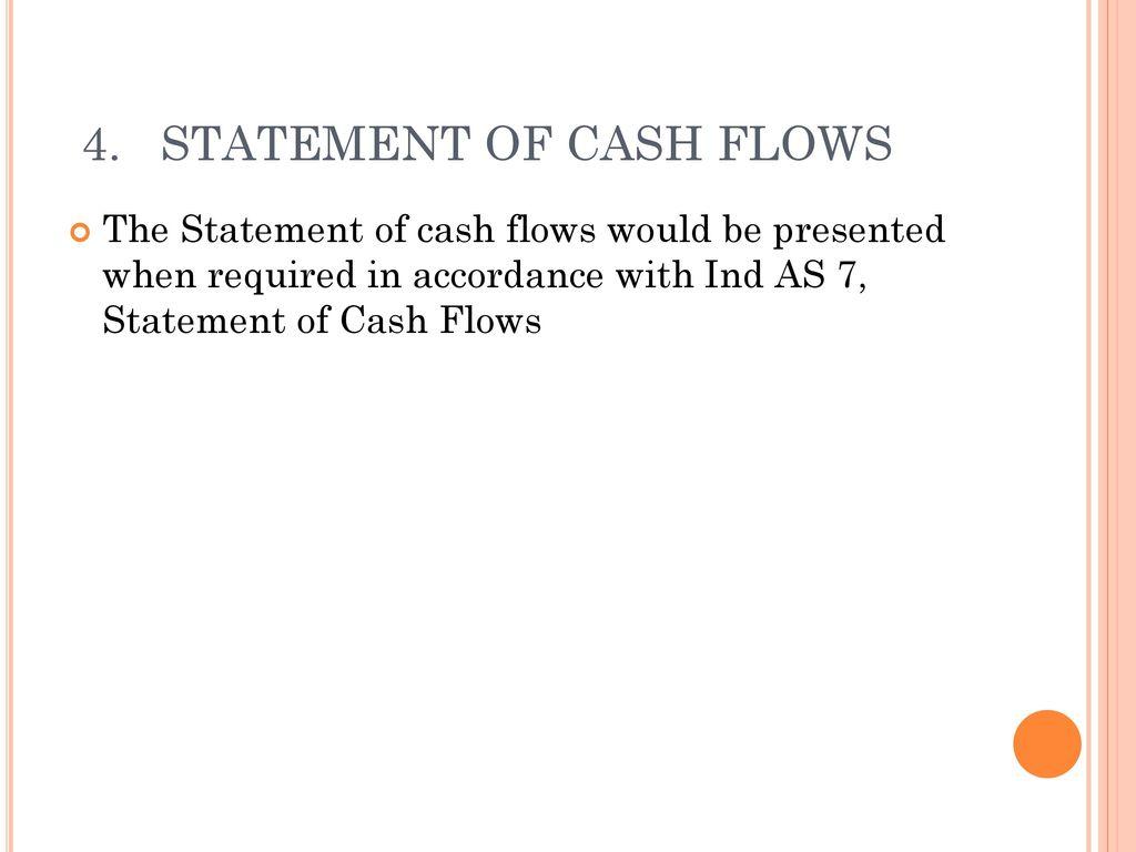 4. STATEMENT OF CASH FLOWS