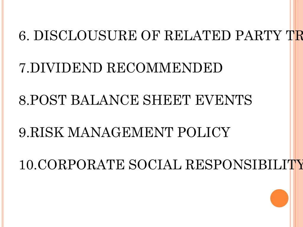 6. DISCLOUSURE OF RELATED PARTY TRANSACTION