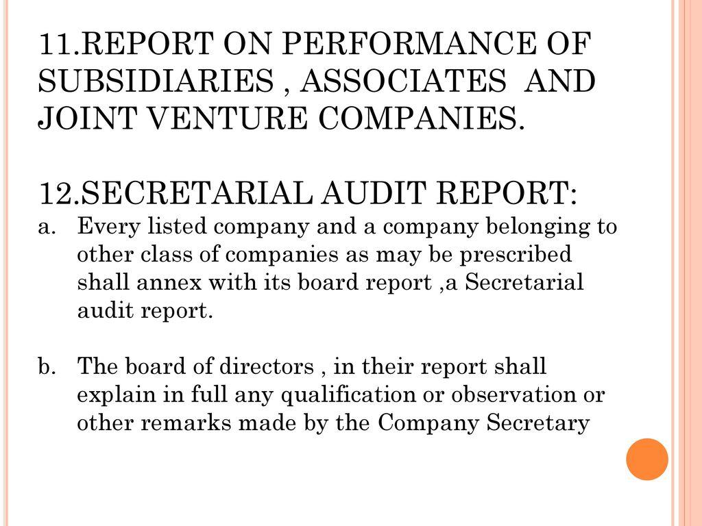12.SECRETARIAL AUDIT REPORT: