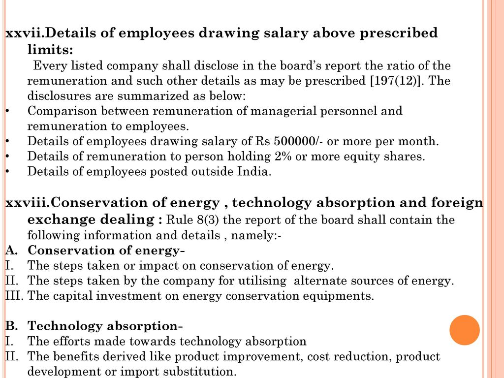 Details of employees drawing salary above prescribed limits: