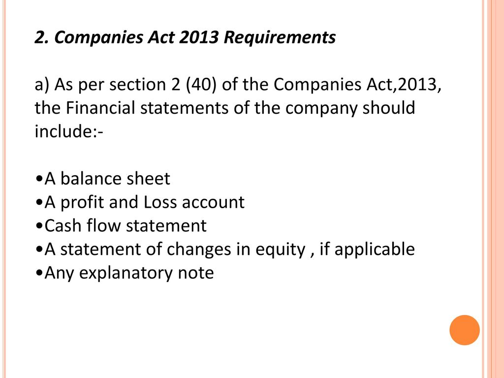 2. Companies Act 2013 Requirements