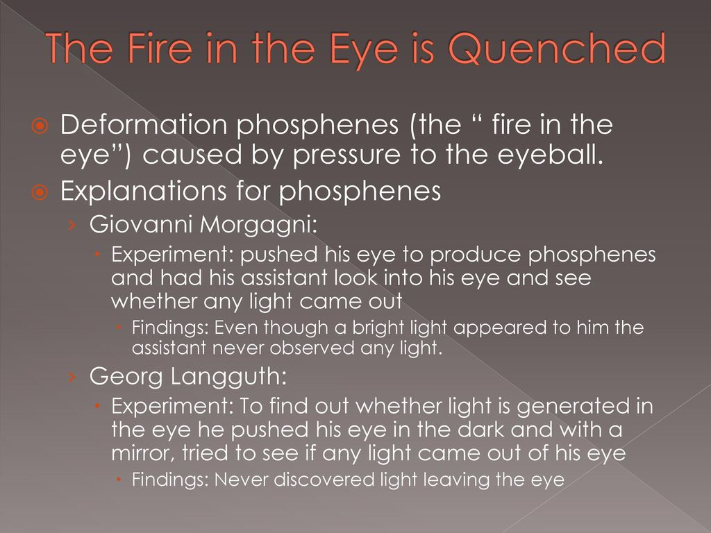 The Fire That Comes From the Eye - ppt download