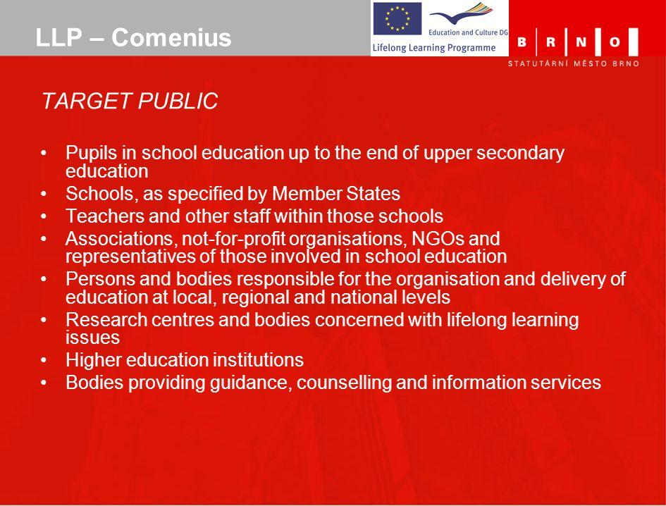 LLP – Comenius TARGET PUBLIC