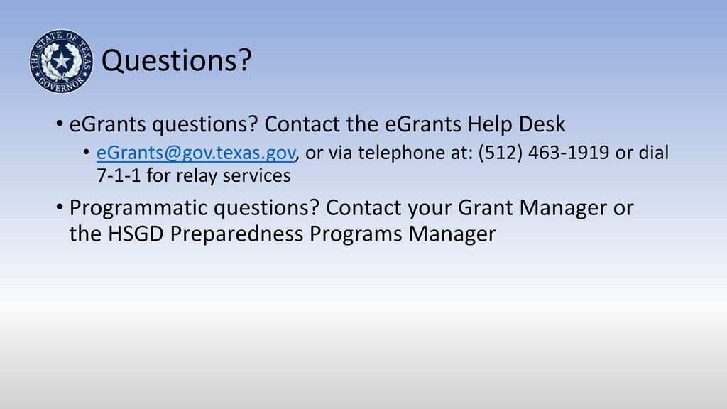 Questions Egrants Contact The Help Desk