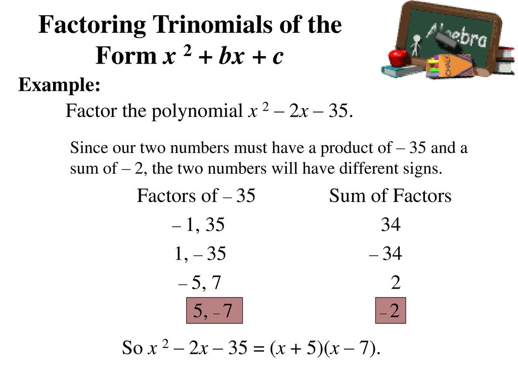 factoring trinomials of the form ax2 bx c - Heart.impulsar.co