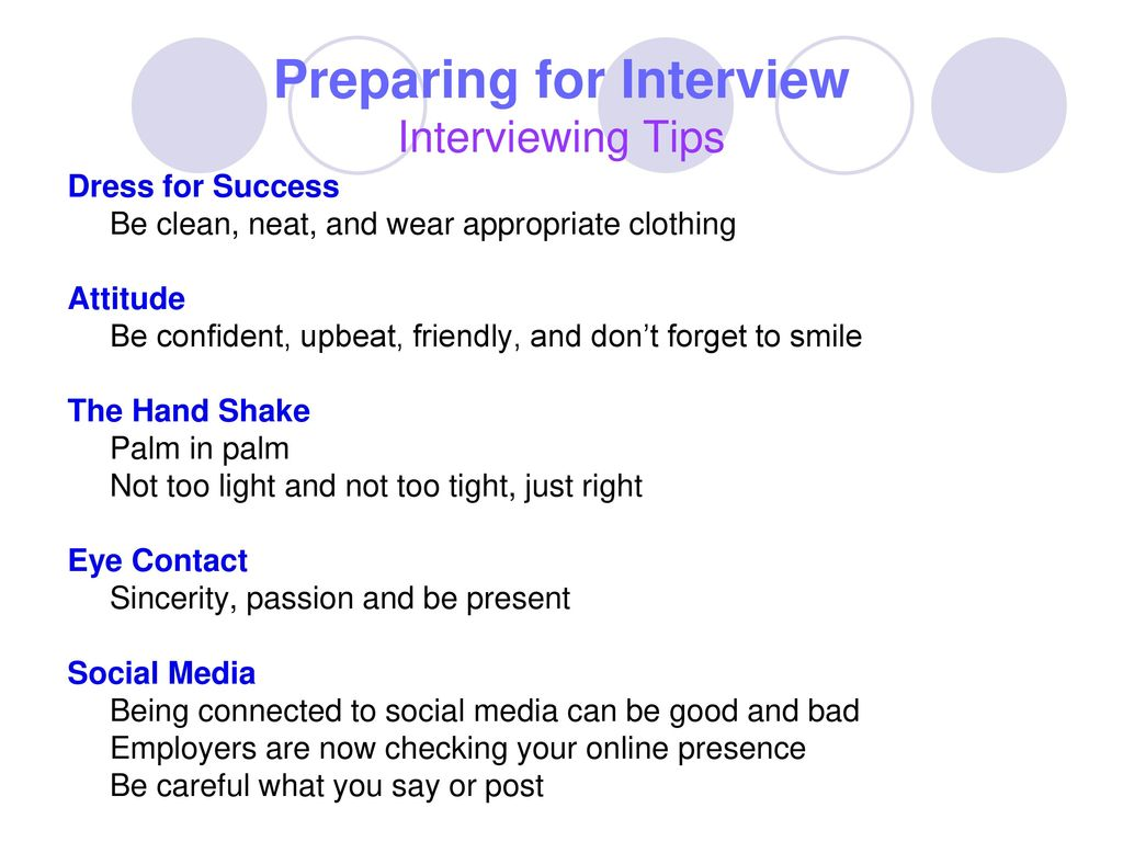 Preparing For Interview Interviewing Tips