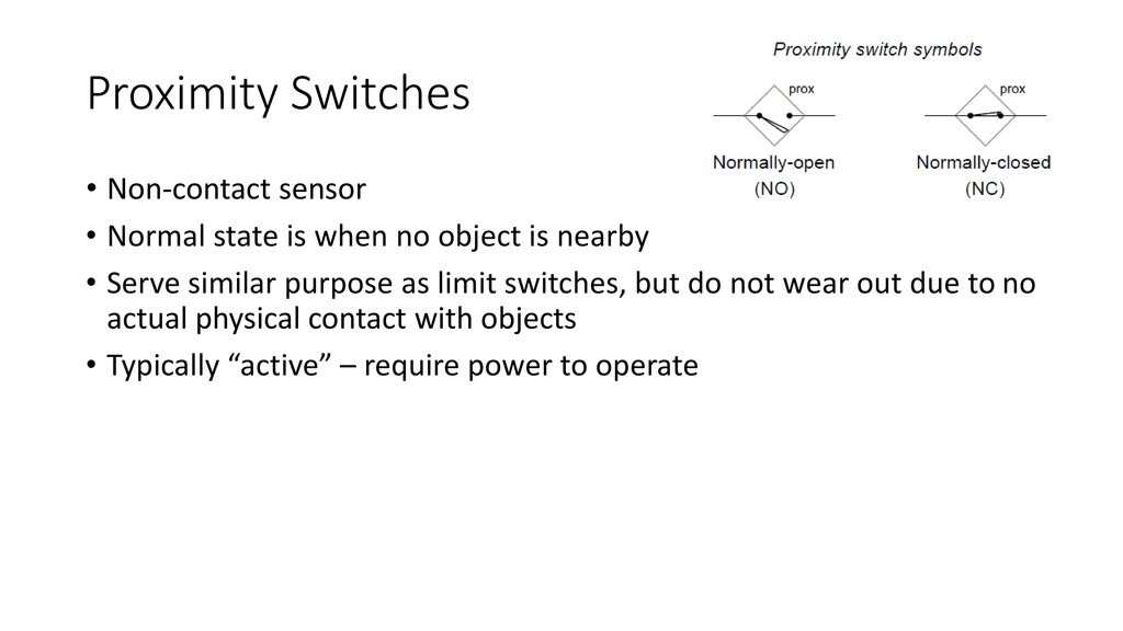 Electronic Control Systems Week 3 – Switches and Sensors - ppt download