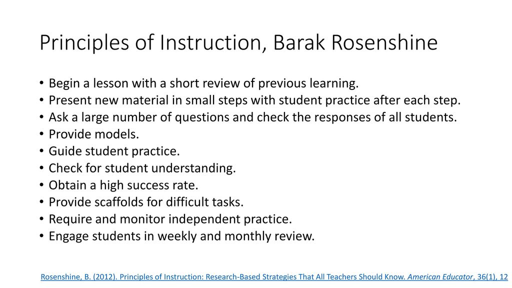 7 steps of direct instruction