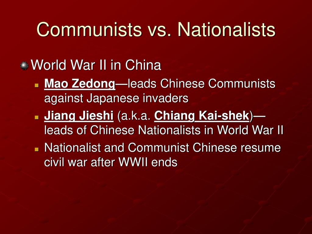 resume When Did The Civil War In China Resume chapter 33 restructuring the postwar world 1945 present ppt download 38 communists vs