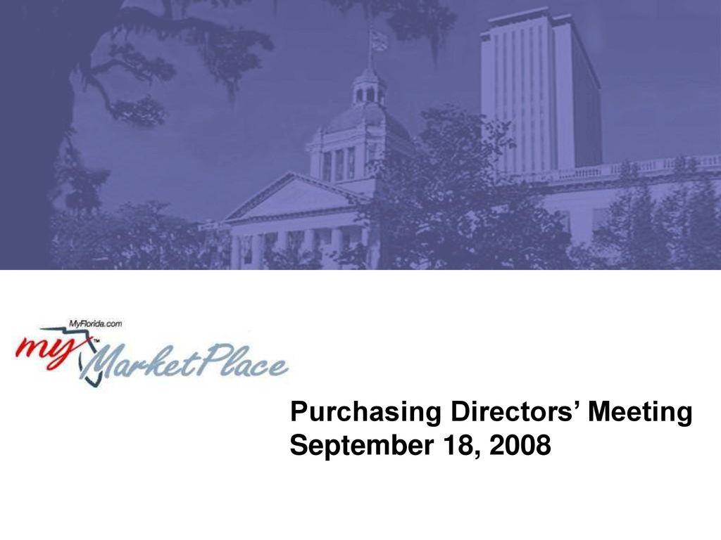 Amazing Purchasing Directorsu0027 Meeting