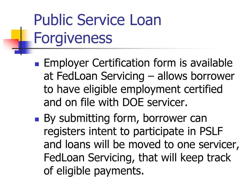 Fine Public Service Loan Forgiveness Formular Mold - FORTSETZUNG ...