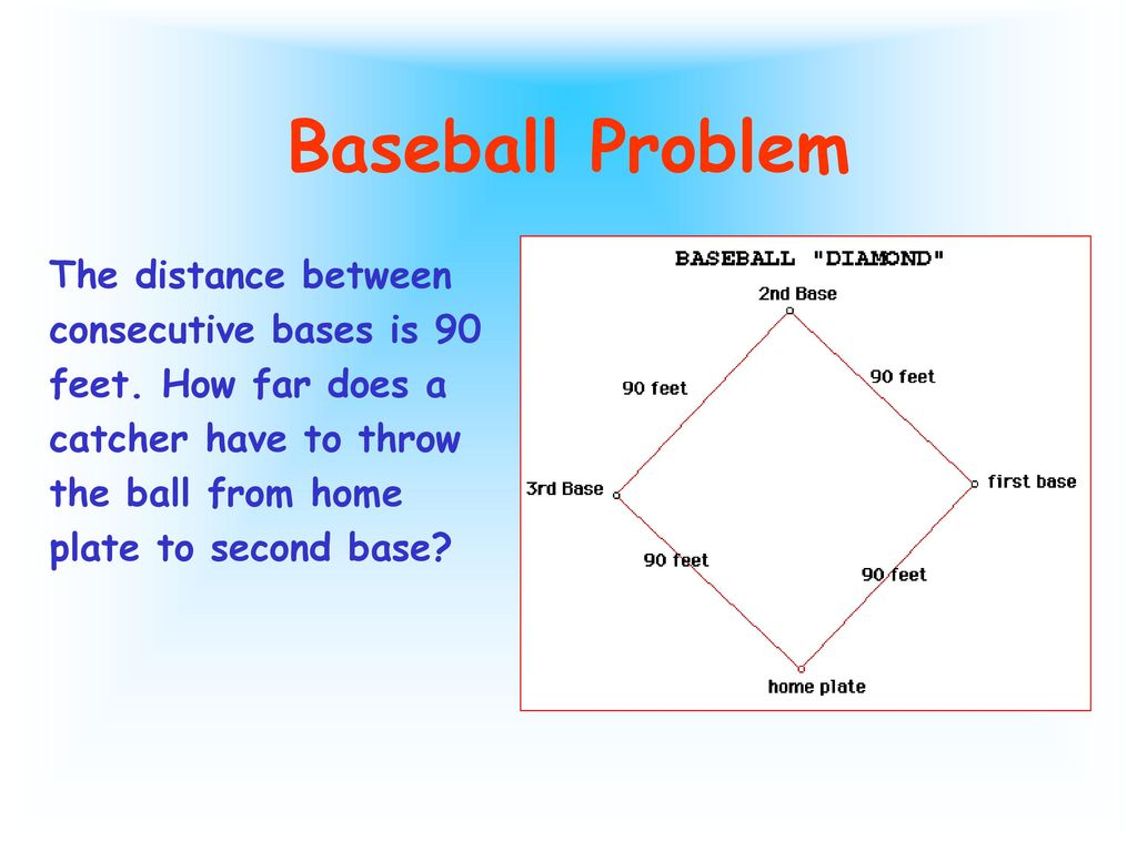 Funky Distance From Home Plate To 2nd Base Sketch - Home Decorating ...