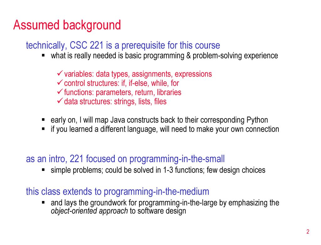 Csc 222 object oriented programming ppt download object oriented programming 2 assumed background technically baditri Image collections