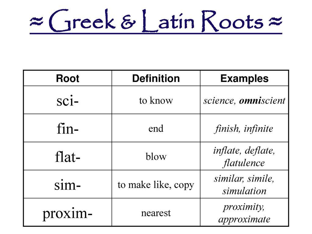 19 ≈ Greek ...