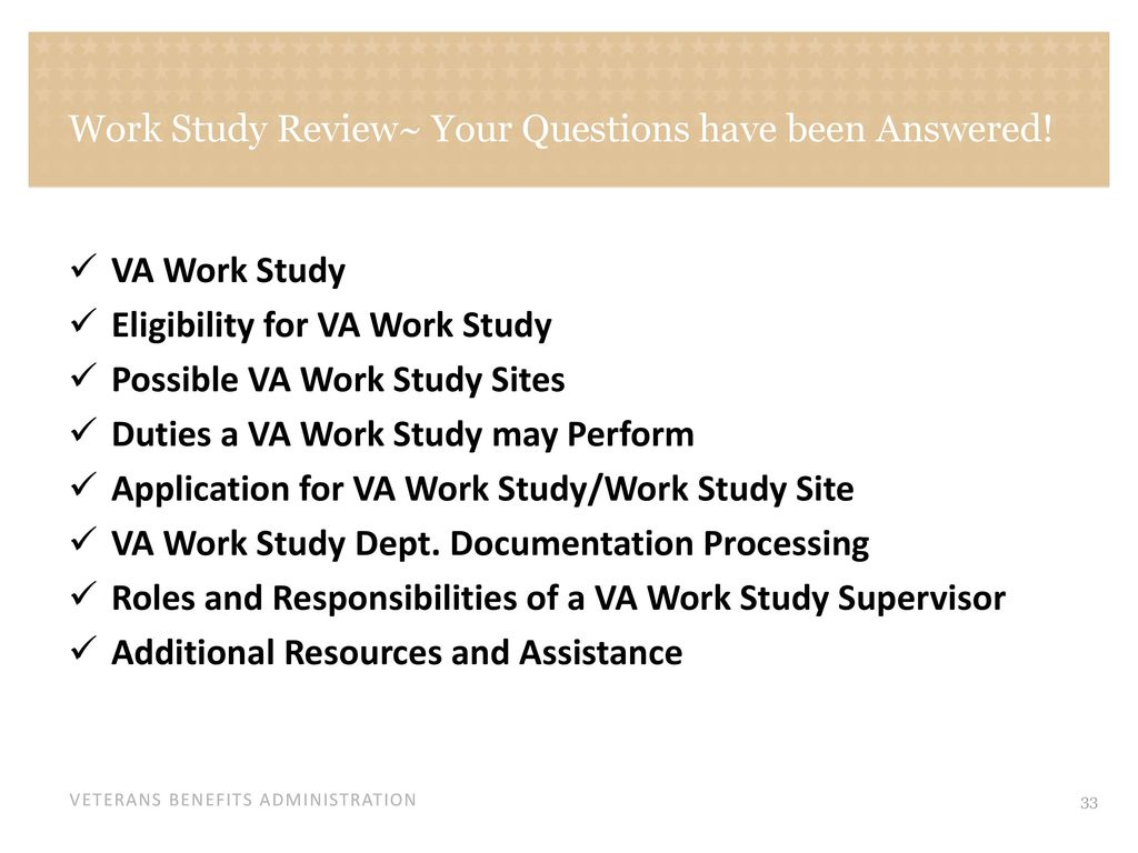 Work Study Overview Your Questions Will Be Answered Ppt Download