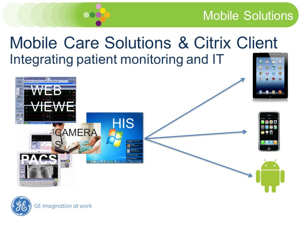 Mobile Solutions Mobile Care Solutions & Citrix Client Integrating patient monitoring and IT. WEB VIEWER.