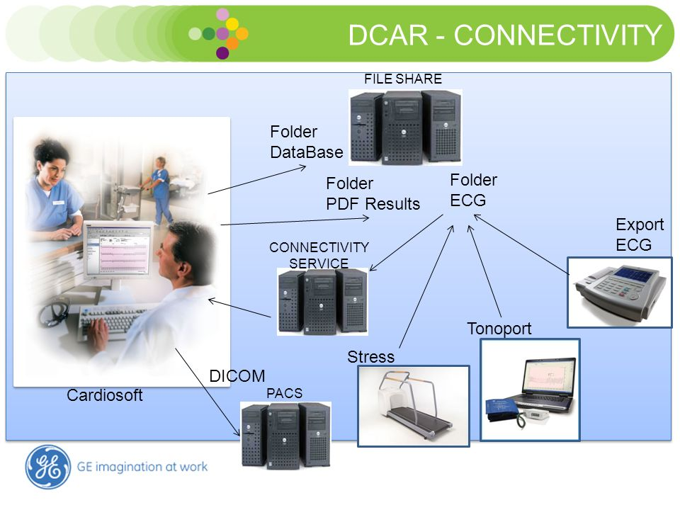 DCAR - CONNECTIVITY Folder DataBase Folder Folder ECG PDF Results