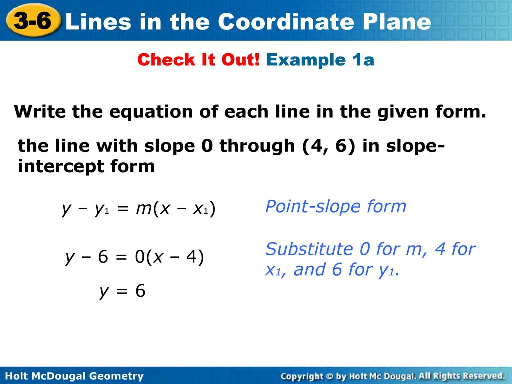 Can every line be written in slope intercept form image collections lines in the coordinate plane ppt download example 1a write the equation of each line in falaconquin