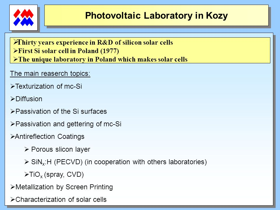 Photovoltaic Laboratory in Kozy