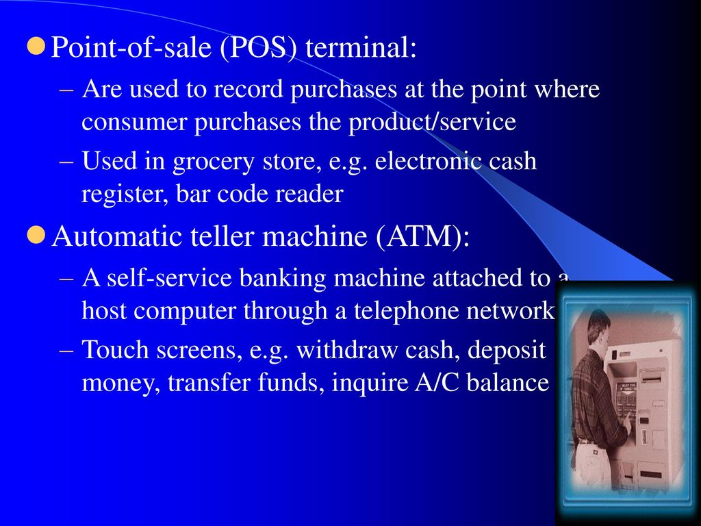 Point-of-sale (POS) terminal: