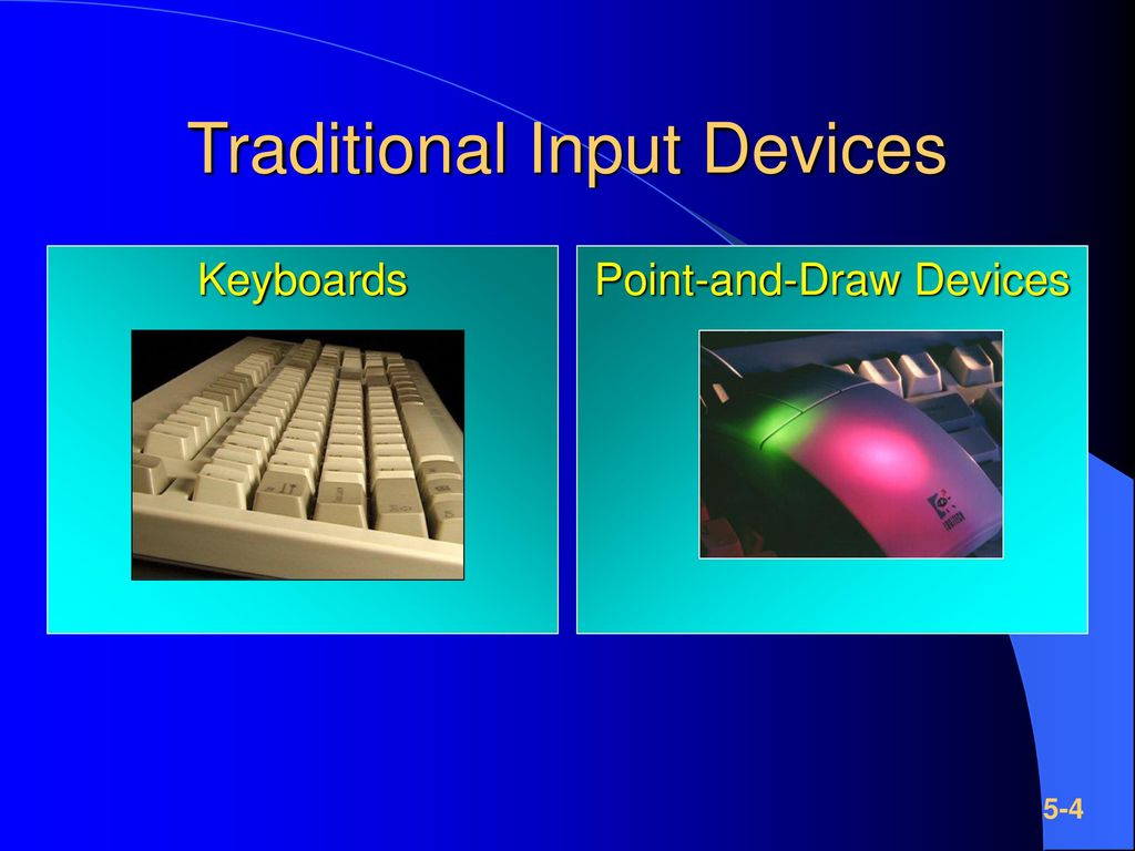 Traditional Input Devices