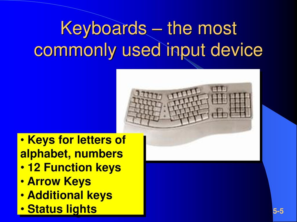 Keyboards – the most commonly used input device