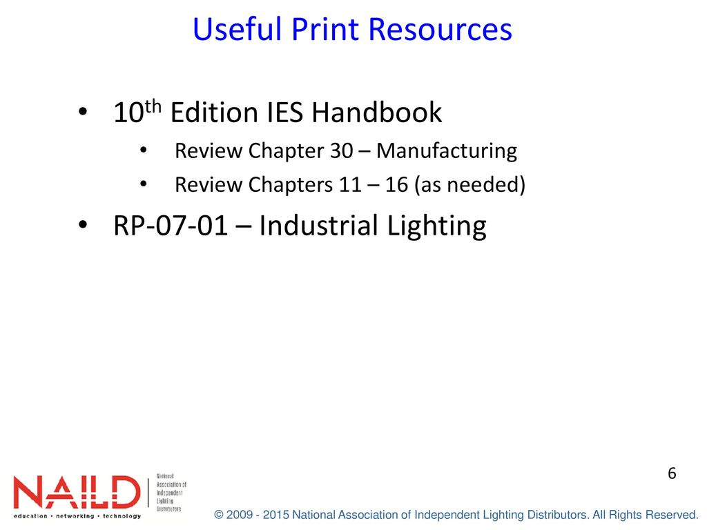 Applied lighting industrial coachs workbook ppt download 6 useful print resources 10th edition ies handbook fandeluxe Choice Image