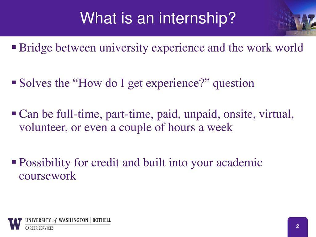 do you get paid for an internship