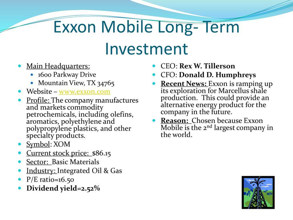 Stock market investment portfolio ppt download 2 exxon buycottarizona Gallery