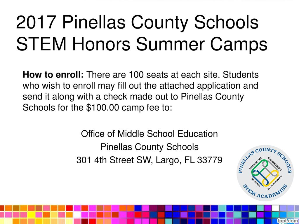 2017 Pinellas County Schools STEM Honors Summer Camps