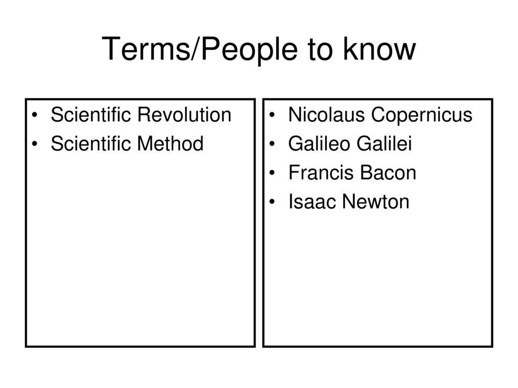 worksheet The Scientific Revolution Worksheet the scientific revolution ppt download termspeople to know method