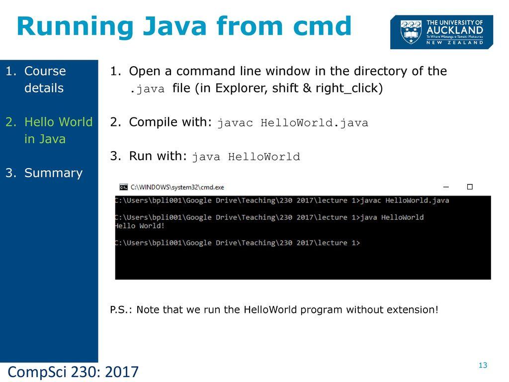 CompSci 230 Programming Techniques Lecture 1 Semester ppt download
