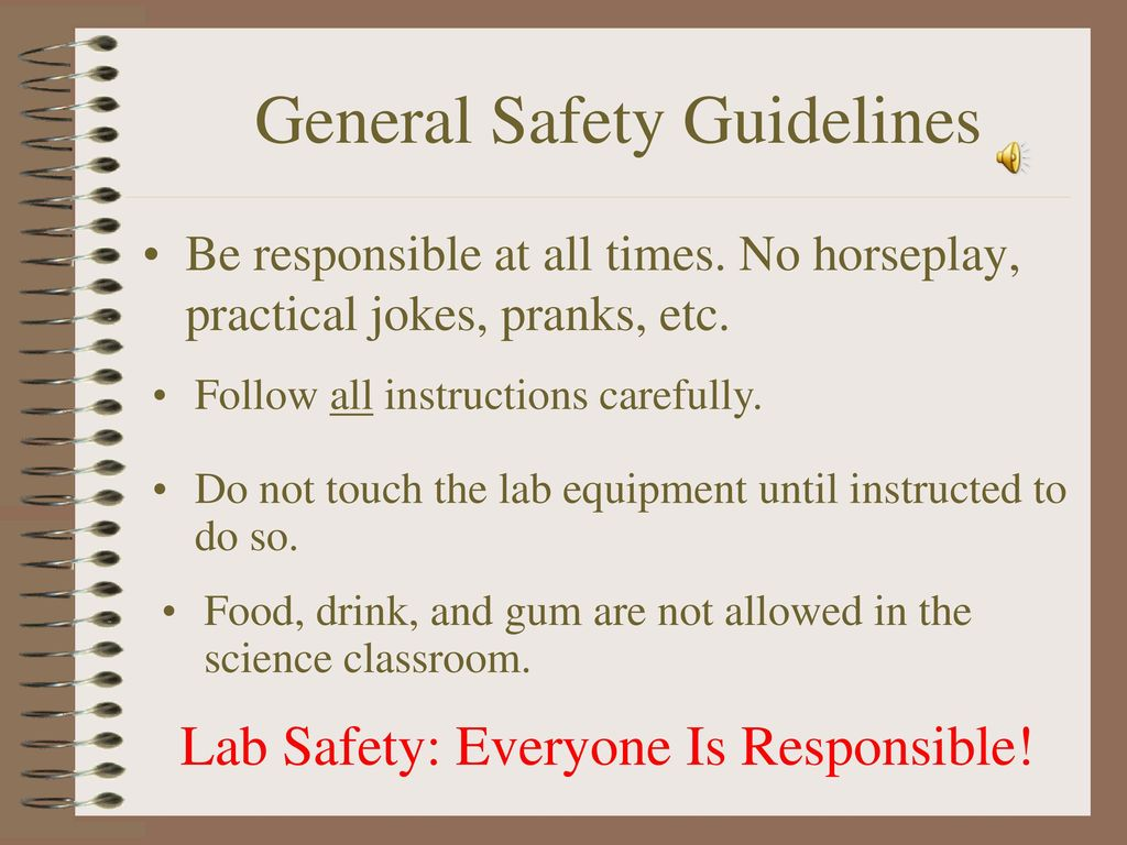 Safety in the science lab ppt download general safety guidelines buycottarizona Choice Image