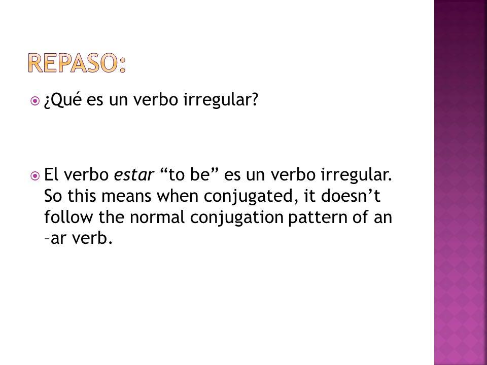 Repaso: ¿Qué es un verbo irregular