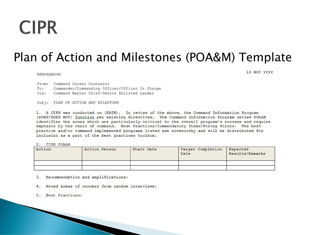 Old fashioned poam template sketch example resume and for Plan of action and milestones template