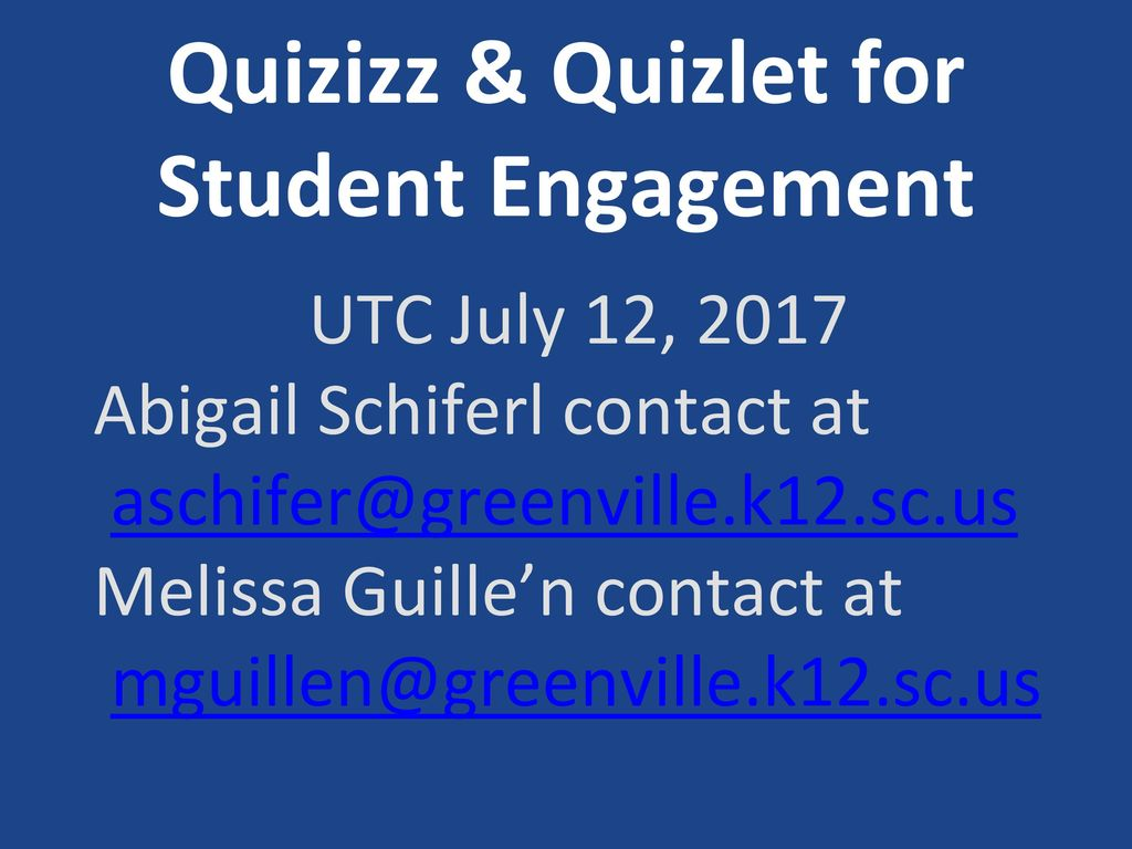 Quizizz & Quizlet for Student Engagement - ppt download