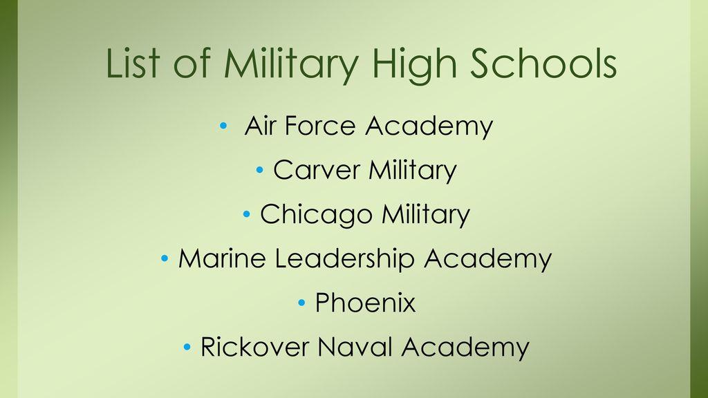 List of Military High Schools