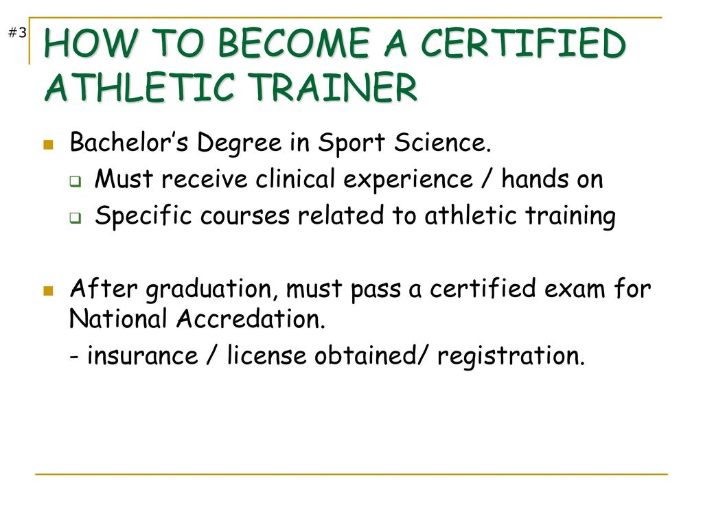 Athletic training as a profession ppt download how to become a certified athletic trainer 1betcityfo Gallery