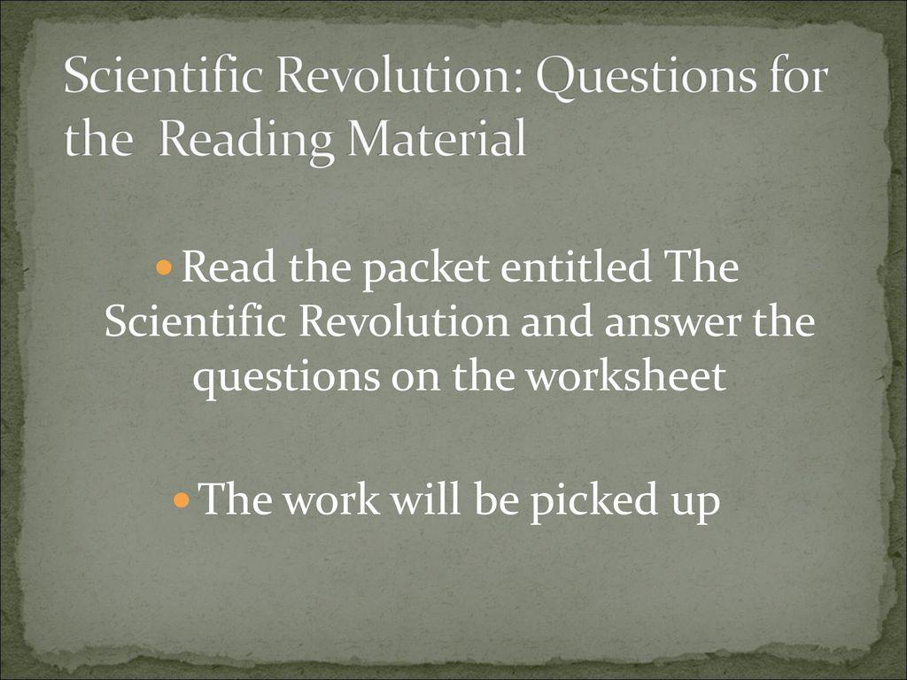 worksheet The Scientific Revolution Worksheet scientific revolution ppt download 40 revolution