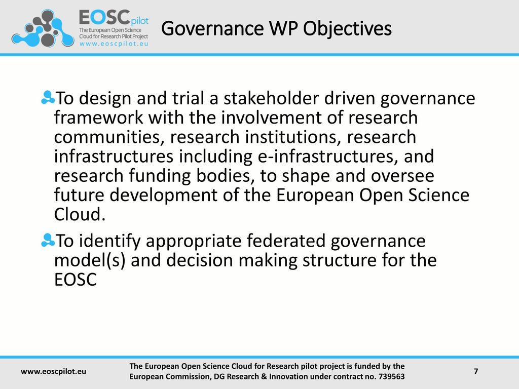 EOSC Governance Development Forum EOSC Governance Framework - ppt ...